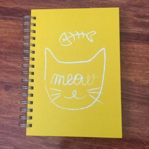 Other - Yellow MEOW Cat Notepad Journal